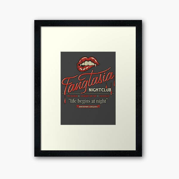 Fangtasia Nightclub Vintage Framed Art Print