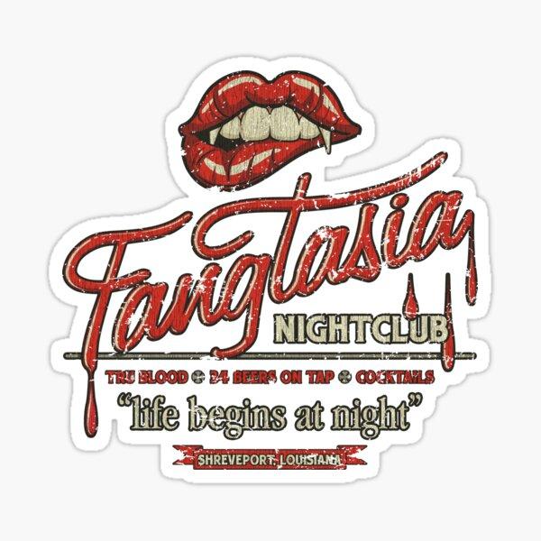 Fangtasia Discoteca Vintage Pegatina