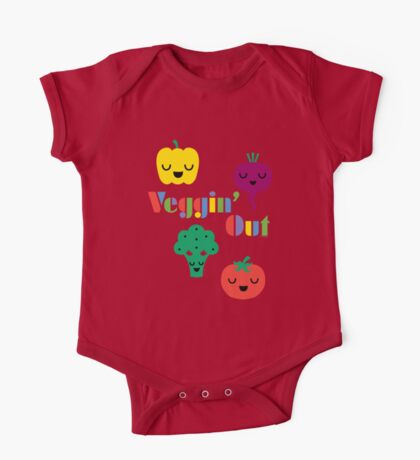 Veggin' Out (colored type) dark Kids Clothes