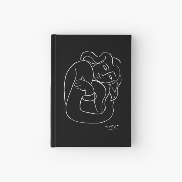 Henri Matisse - PASIPHAE PLATE 2 - Woman With Arms Crossed Artwork Reproduction, Prints, Tshirts, Posters, Bags, Men, Women, Kids Hardcover Journal