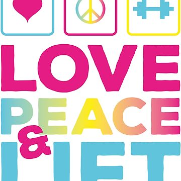 LOVE PEACE & LIFT by MarlowLoom