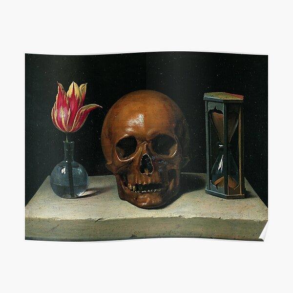 Still-Life with a Skull - Philippe de Champaigne Poster