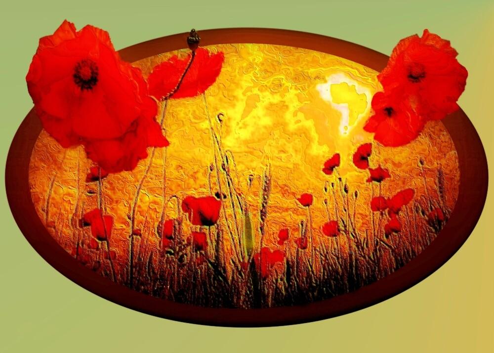 Poppy serenade by Valerie Anne Kelly