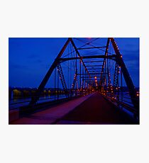 Walnut Street Walking Bridge-Harrisburg, PA Photographic Print