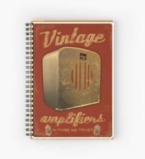 Cuaderno de espiral Póster de amplificador vintage