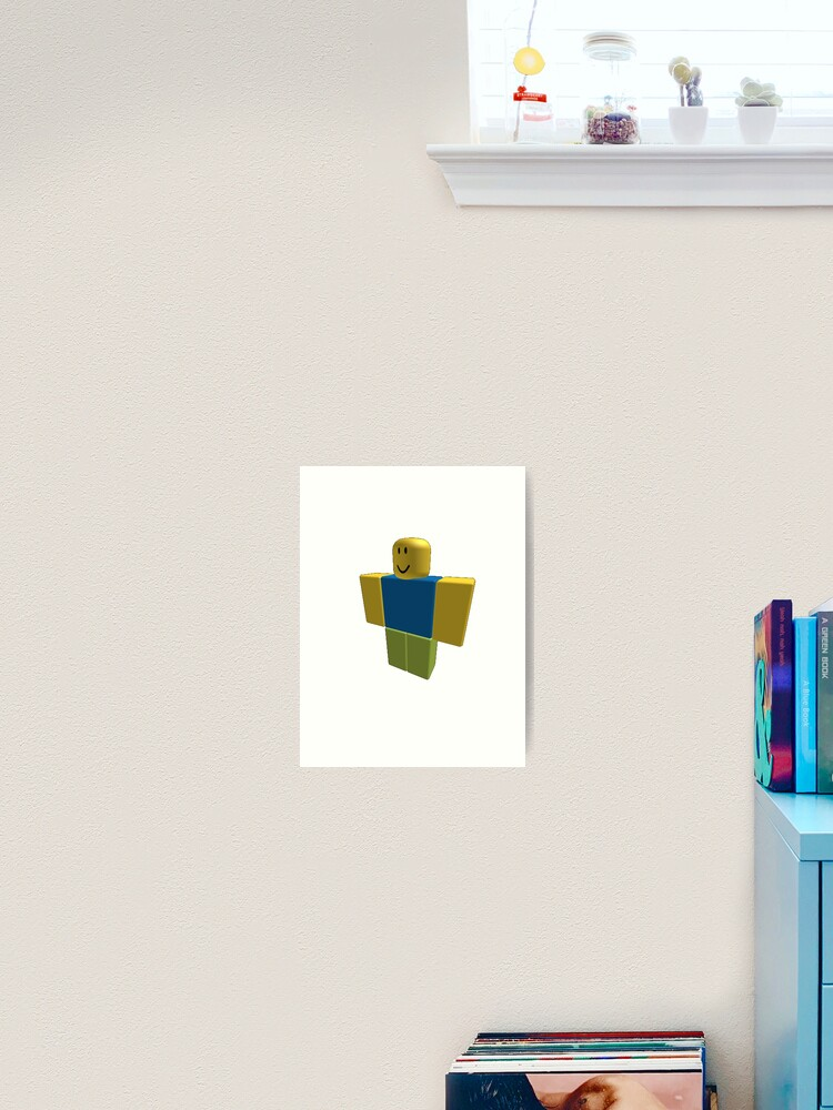 Roblox Default Character 2006 Version Art Print By Orkney123