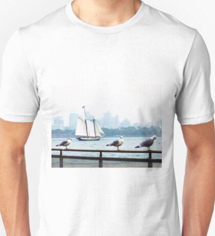 Skyline with Seagulls T-Shirt