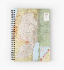 Karte der Westbank und des Gazastreifens (1979) Spiralblock