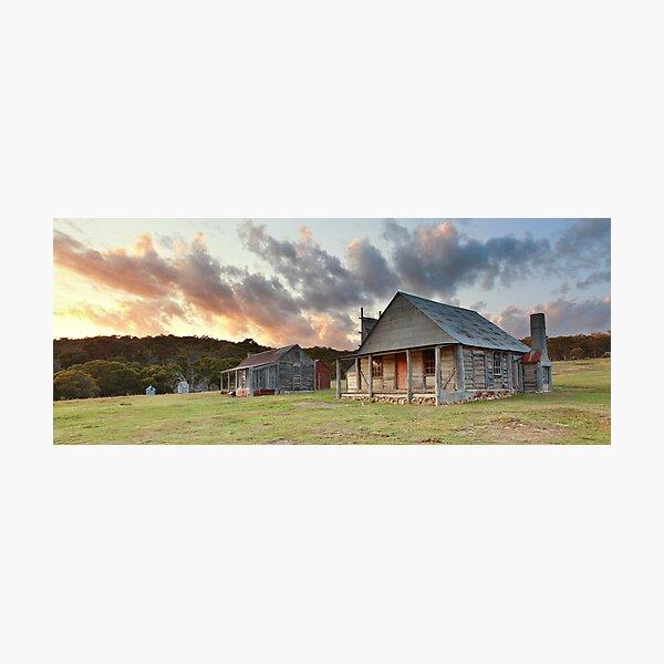 Coolamine Homestead Dawn, Kosciusko National Park, Australia Photographic Print