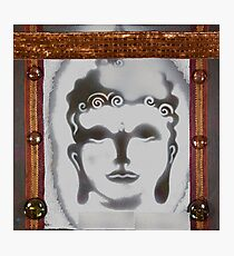 weisser Buddha Photographic Print