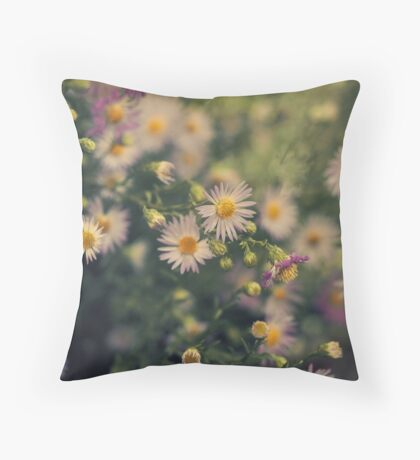 Woodland Daisies Throw Pillow