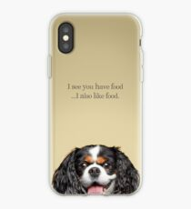Funny and Hungry Cavalier King Charles Spaniel iPhone Case
