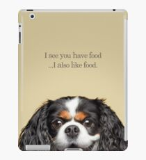 Funny and Hungry Cavalier King Charles Spaniel iPad Case/Skin