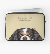 Funny and Hungry Cavalier King Charles Spaniel Laptop Sleeve