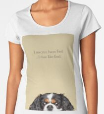 Funny and Hungry Cavalier King Charles Spaniel Women's Premium T-Shirt