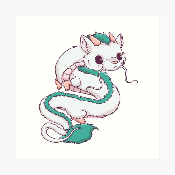 Haku Dragon Spirited Away Gibli Studios ; RJ-S  Art Print