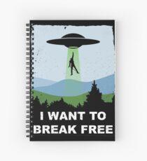 I Want to Break Free - Freddie Returns to Mercury Spiral Notebook