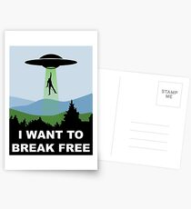 I Want to Break Free - Freddie Returns to Mercury Postcards