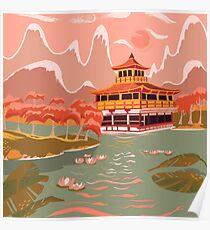 Kyoto goldene Pagode Poster