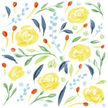 Lemonade floral  by laurathedrawer