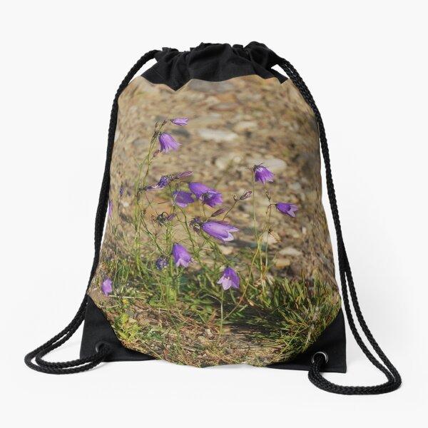 #flower #nature #outdoors #grass #field garden leaf season summer petal Drawstring Bag