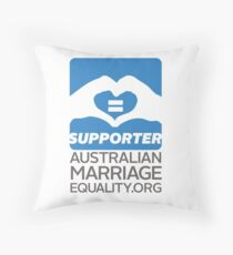 Australian Marriage Equality Supporter Throw Pillow