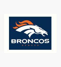 Broncos Art Print