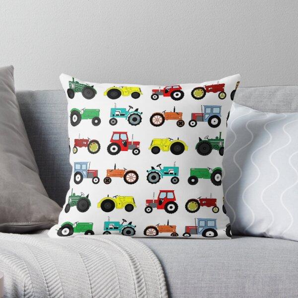 Tractors Print Throw Pillow