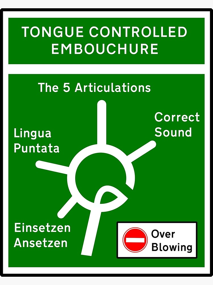 Tongue Controlled Embouchure Traffic Graphic by trumpetplanet