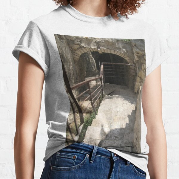 #architecture #tunnel #old #cave #castle military abandoned Classic T-Shirt