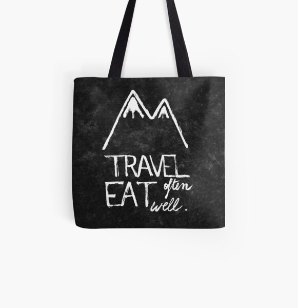 Travel often, eat well All Over Print Tote Bag