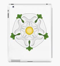 Weiße Rose von Yorkshire iPad-Hülle & Skin