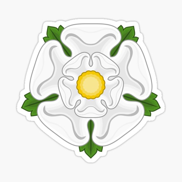 White Rose of Yorkshire Sticker