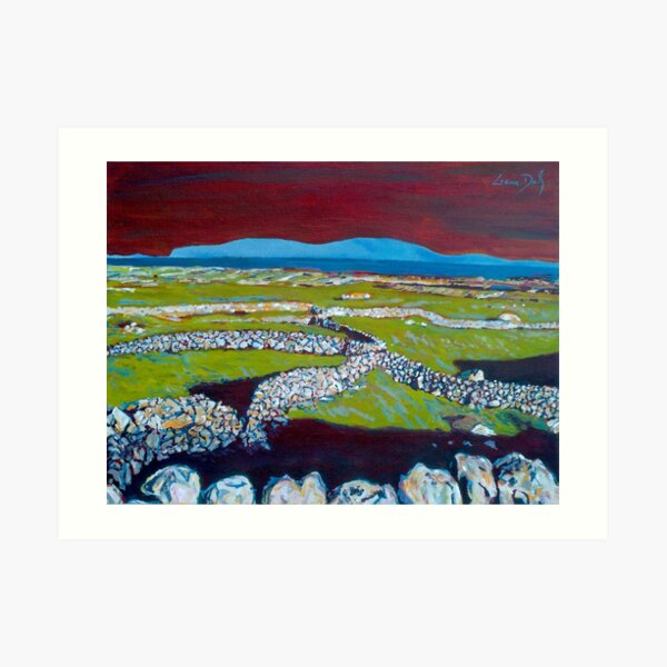 Stone Walls and the Grass is Green II (Ireland) Art Print