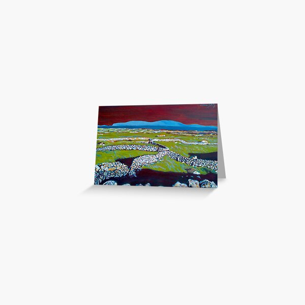 Stone Walls and the Grass is Green II (Ireland) Greeting Card