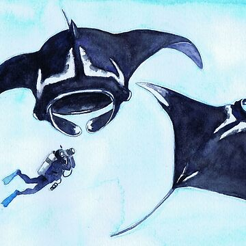 Postcards for the Reef 13: Manta Rays and Me by MiMiDesigns