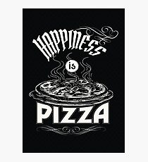 Happiness is Pizza Photographic Print