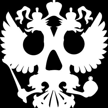 emblem of russia skull by Lips1993
