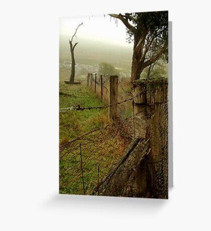 Wet Damp Cowbaw Morning, Macendon Ranges Greeting Card