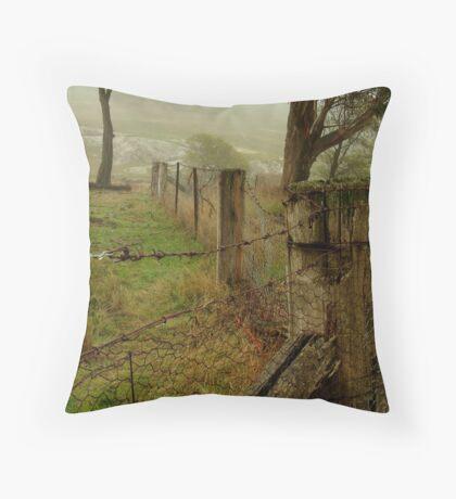 Wet Damp Cowbaw Morning, Macendon Ranges Throw Pillow
