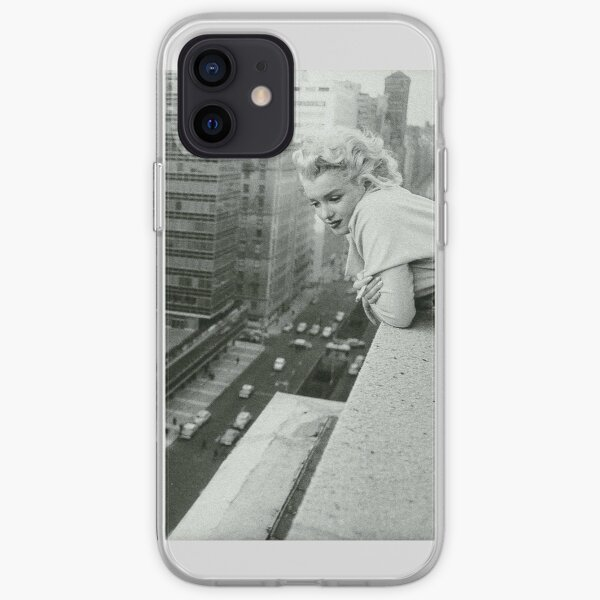 Marilyn Monroe overlooking New York City iPhone Soft Case