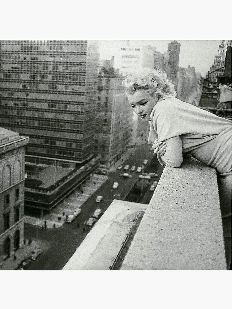 Marilyn Monroe overlooking New York City by Angelacassiani