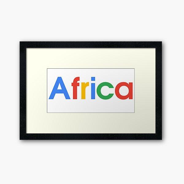 Google Africa Framed Art Print