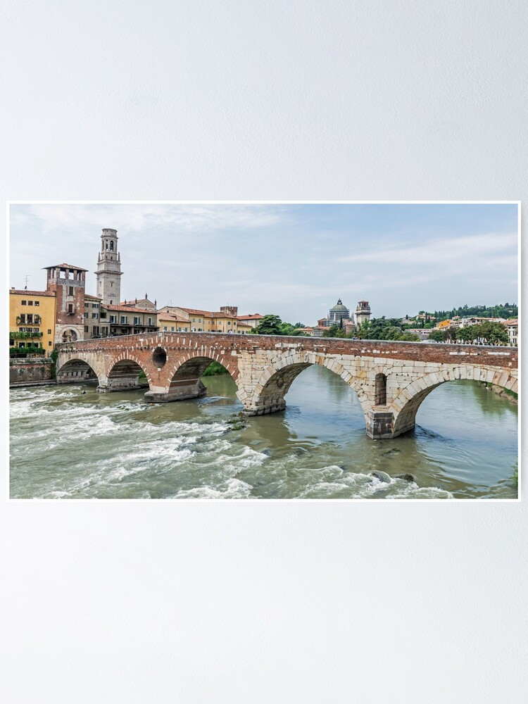 Alternate view of Ponte Pietra, Verona, Italy Poster