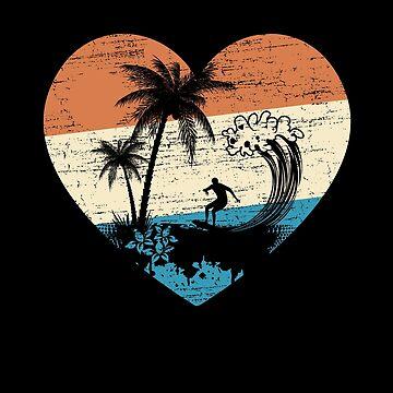 Surfer Herz von S-p-a-c-e
