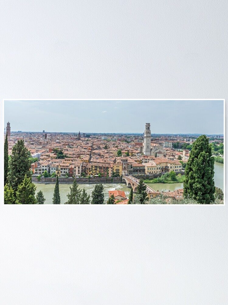 Alternate view of Panoramic view of Verona Poster