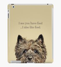 Funny and Hungry Cairn Terrier iPad Case/Skin
