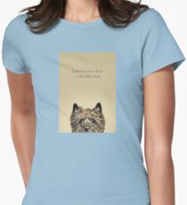 Funny and Hungry Cairn Terrier Women's Fitted T-Shirt
