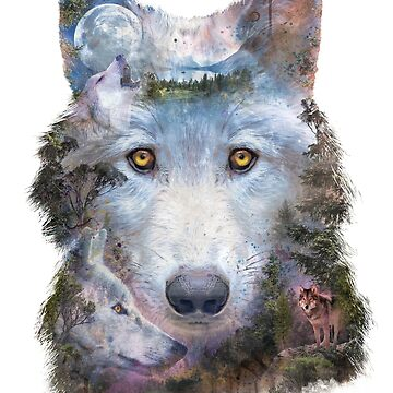 Wolf Moon Surreal by barrettbiggers