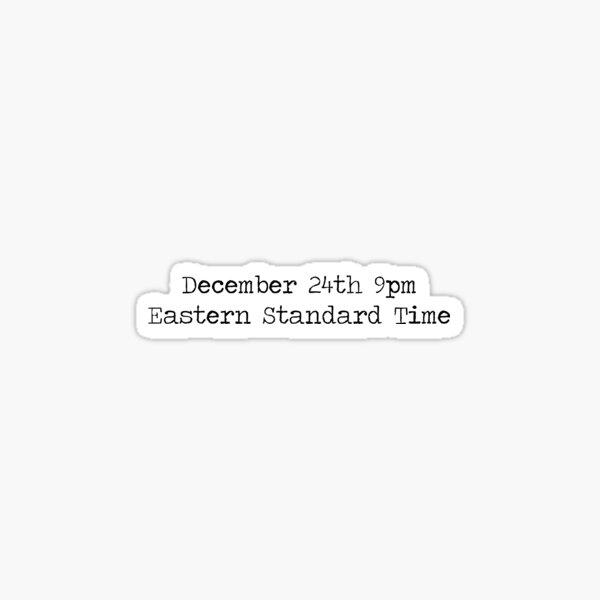 RENT - December 24th Sticker